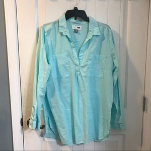 EUC Old Navy Tunic linen blend shirt Size XL